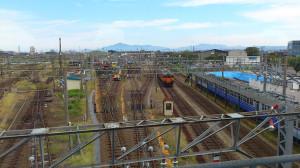 直江津駅から望む米山